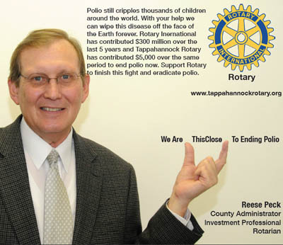 rotary end polio now campaign reese peck