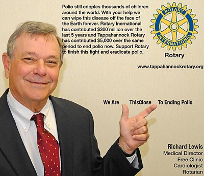 rotary end polio now campaign richard lewis