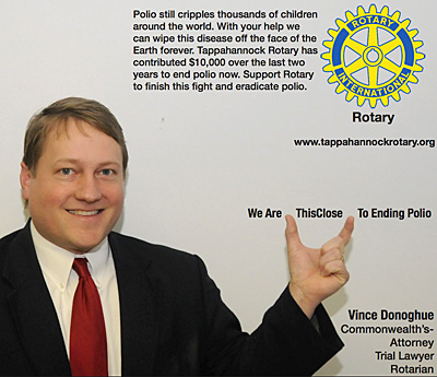 rotary end polio now campaign vince donoghue