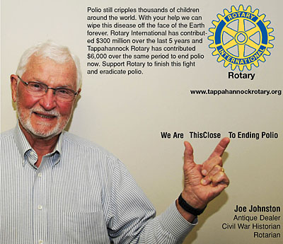 rotary end polio now campaign joe johnston