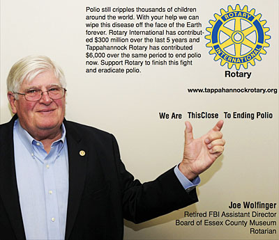 rotary end polio now campaign joe wolfinger
