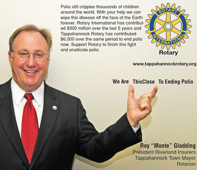 rotary end polio now campaign monte gladding